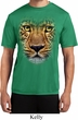 Mens Shirt Big Leopard Face Moisture Wicking Tee T-Shirt