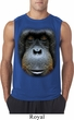 Mens Shirt Big Orangutan Face Sleeveless Tee T-Shirt