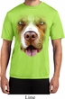 Mens Shirt Big Pit Bull Face Moisture Wicking Tee T-Shirt