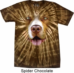 Mens Shirt Big Pit Bull Face Spider Tie Dye Tee T-shirt
