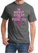 Mens Shirt Breast Cancer Awareness Keep Calm Tee T-Shirt