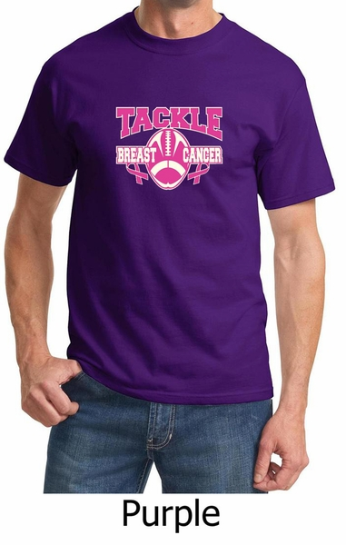 cbaa64f47f0 Mens Shirt Breast Cancer Awareness Tackle Cancer Tee T-Shirt ...