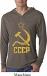 Mens Shirt CCCP Distressed Lightweight Hoodie Tee T-Shirt