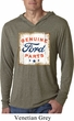 Mens Shirt Distressed Ford Parts Lightweight Hoodie Tee T-Shirt