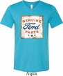 Mens Shirt Distressed Genuine Ford Parts Tri Blend V-neck Tee T-Shirt