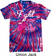 Mens Shirt Fight For a Cure Patriotic Tie Dye Tee T-shirt