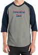 Mens Shirt Grateful American Dad Raglan Tee T-Shirt
