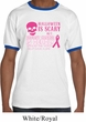 Mens Shirt Halloween Scary Breast Cancer Deadly Ringer Tee T-Shirt