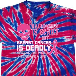 Mens Shirt Halloween Scary Cancer Deadly Patriotic Tie Dye Tee T-shirt