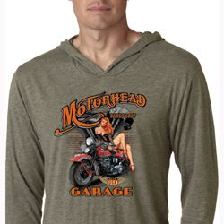 Mens Shirt Motorhead Garage Lightweight Hoodie Tee T-Shirt