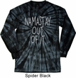 Mens Shirt Namastay Out Of It Long Sleeve Tie Dye Tee T-shirt