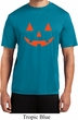 Mens Shirt Orange Jack O Lantern Moisture Wicking Tee T-Shirt