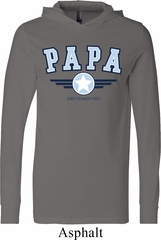 Mens Shirt Papa Lightweight Hoodie Tee T-Shirt