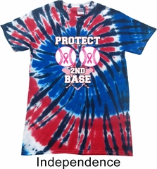 Mens Shirt Protect 2nd Base Patriotic Tie Dye Tee T-shirt