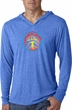 Mens Shirt Psychedelic Peace Lightweight Hoodie Tee T-Shirt