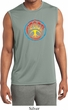 Mens Shirt Psychedelic Peace Sleeveless Moisture Wicking Tee T-Shirt