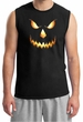 Mens Shirt Pumpkin Head Muscle Tee T-Shirt