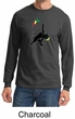Mens Shirt Rasta Triangle Long Sleeve Tee T-Shirt