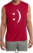 Mens Shirt Smiley Chat Face Sleeveless Moisture Wicking Tee T-Shirt