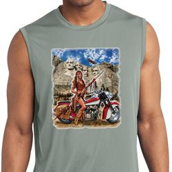 Mens Shirt Sturgis Indian Sleeveless Moisture Wicking Tee T-Shirt