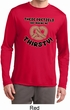 Mens Shirt Thirsty Pretzels Dry Wicking Long Sleeve T-Shirt