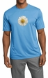 Mens Shirt White Daisy Moisture Wicking Tee T-Shirt