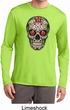Mens Skull Shirt Sugar Skull with Roses Dry Wicking Long Sleeve Shirt