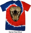 Mens Snake Shirt Big Cobra Snake Face Patriotic Tie Dye Tee T-shirt