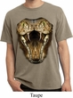 Mens Snake Shirt Big Cobra Snake Face Pigment Dyed Tee T-Shirt
