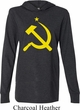 Mens Soviet Shirt Yellow Hammer And Sickle Lightweight Hoodie Tee