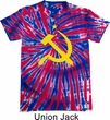 Mens Soviet Shirt Yellow Hammer And Sickle Patriotic Tie Dye Tee