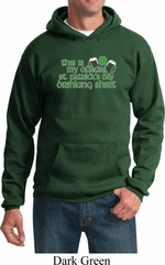 Mens St Patrick's Day Hoodie My Official Drinking Shirt Hoody