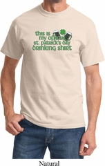 Mens St Patrick's Day Shirt My Official Drinking Shirt Tee T-Shirt