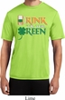 Mens St Patrick's Shirt Drink Til Yer Green Moisture Wicking Tee