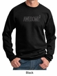 Mens Sweatshirt Awesome Cubed Sweat Shirt