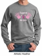 Mens Sweatshirt Breast Cancer Awareness Support the Girls Sweat Shirt