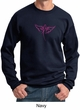 Mens Sweatshirt Breast Cancer Awareness Wings Ribbon Sweat Shirt