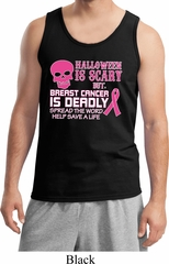 Mens Tanktop Halloween Scary Breast Cancer Deadly Tank Top