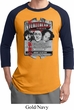 Mens Three Stooges Shirt Nyukleheads Garage Raglan Tee T-Shirt