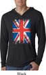 Mens UK Flag Shirt Union Jack Lightweight Hoodie Tee