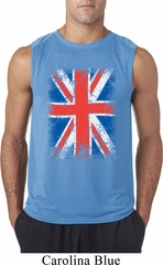 Mens UK Flag Shirt Union Jack Sleeveless Tee T-Shirt