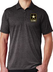 """Mens """"US Army"""" Moisture-Wicking Ombre Polo Shirt"""
