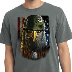 Mens USA Tee American Eagle Pigment Dyed T-shirt