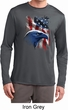 Mens USA Tee American Icon Dry Wicking Long Sleeve