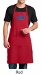 Mens Yoga Apron Floral Ajna Full Length Apron with Pockets