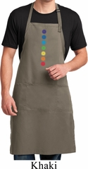 Mens Yoga Apron Glowing Chakras Full Length Apron with Pockets