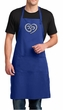 Mens Yoga Apron OM Heart Full Length Apron with Pockets