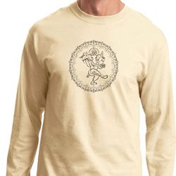 Mens Yoga Circle Ganesha Black Print Long Sleeve