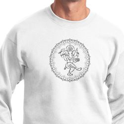 Mens Yoga Circle Ganesha Black Print Sweatshirt