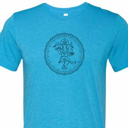 Mens Yoga Circle Ganesha Black Print Tri Blend T-shirt